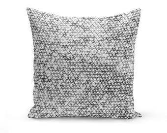 Throw Pillow Cover, Black Grey White , Accent Pillow Cover, Decorative Pillow, Home Decor, Neutral Decor, Geometric Pillow Cover