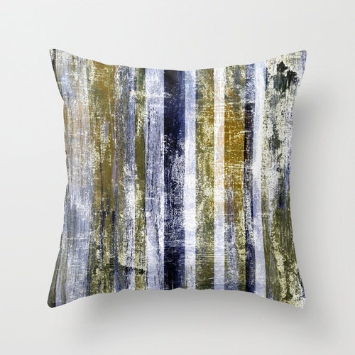 Navy Gold Throw Pillow Cover Modern Home Decor Living Room Etsy