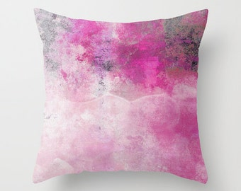 Decorative Pillow Cover Abstract Pillow Cover Accent Pillow Cover Home Decor Cushion Cover Pink Pillow Cover Fuchsia Pillow Cover