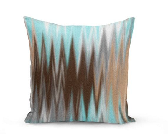 light blue throw pillows image brown light blue throw pillow cover etsy