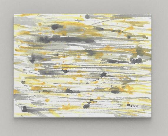Yellow Grey Wall Art Canvas Wall art Home Decor Wall Decor   Etsy