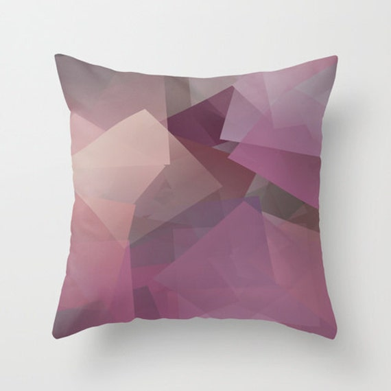 Geometric Pillow Cover Plum Purple Wine Tan Mauve Abstract Etsy Extraordinary Mauve Decorative Pillows