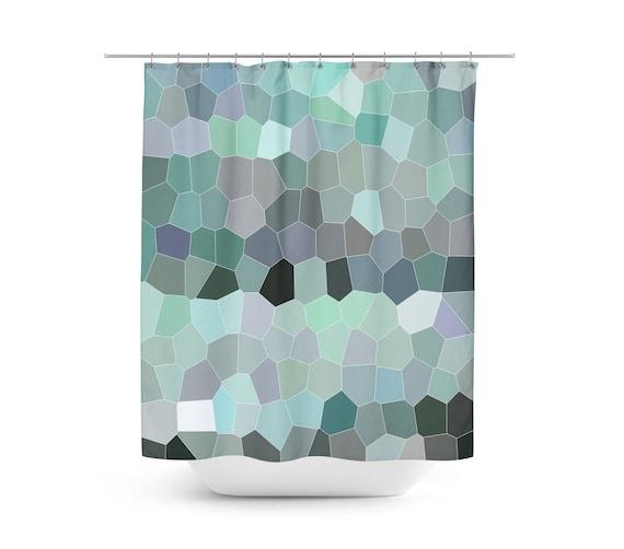 Shower Curtain Geometric Mosaic