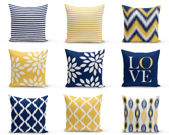 Decorative Pillow Covers Navy Blue Pillow Covers Throw Etsy