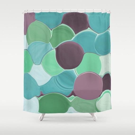 badezimmer accessoires turkis, dusche vorhang petrol türkis aqua mint lila pflaume grün | etsy, Design ideen