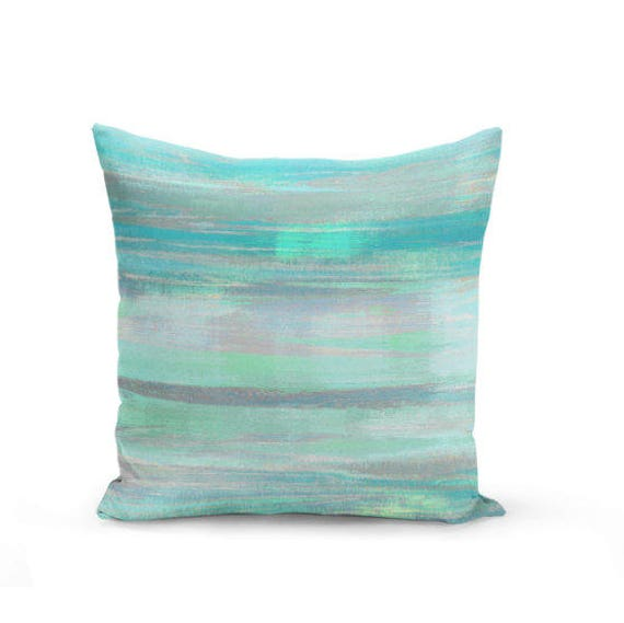 Throw Pillow Cover Teal Mint Aqua Green Grey Modern Home Decor Living room  bedroom accessories Cushion Decorative Pillow Cover