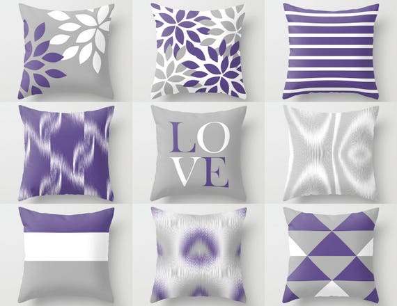 Incredible Throw Pillow Covers Ultra Violet Grey White Couch Cushion Cover Contemporary Home Decor Living Room Pillow Decorative Pillow Andrewgaddart Wooden Chair Designs For Living Room Andrewgaddartcom