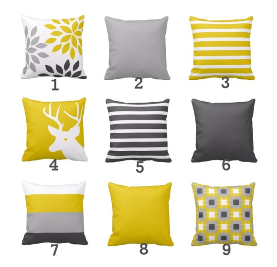 Wondrous Throw Pillow Covers Mustard Yellow Grey White Couch Cushion Covers Home Decor Living Room Pillow Throw Pillow Covers Decorative Pillows Andrewgaddart Wooden Chair Designs For Living Room Andrewgaddartcom