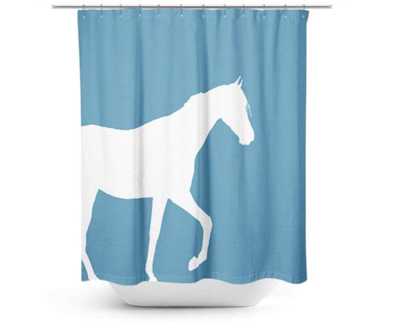 Horse Shower Curtain Bathroom Accessories Home Decor Bath