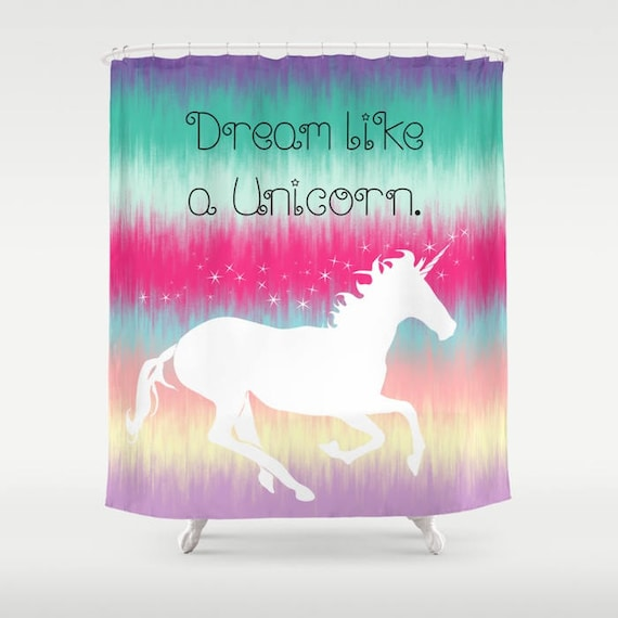 Unicorn Shower Curtain Bathroom Dream Like A