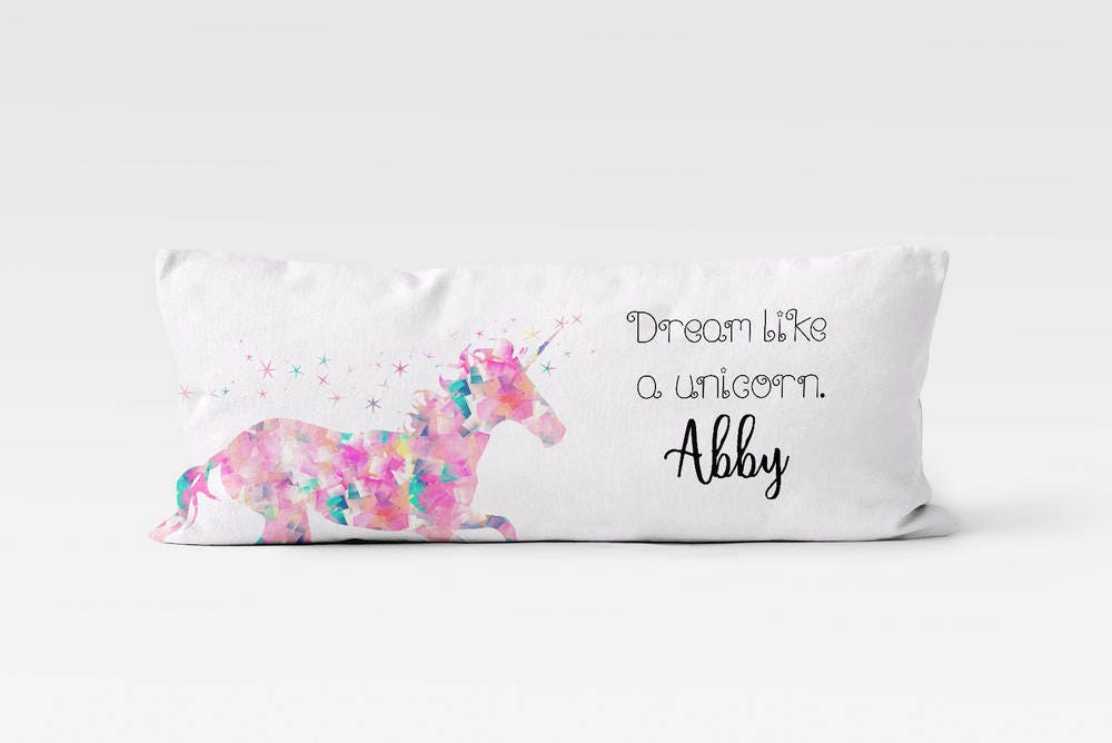 Unicorn Body Pillow Case Body Pillow Cover Personalized Body Etsy