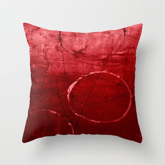Abstract Red Throw Pillow Cover Ombre Modern Home Decor Living room bedroom  accessories Cushion Decorative Pillow Cover Euro Sham Cover