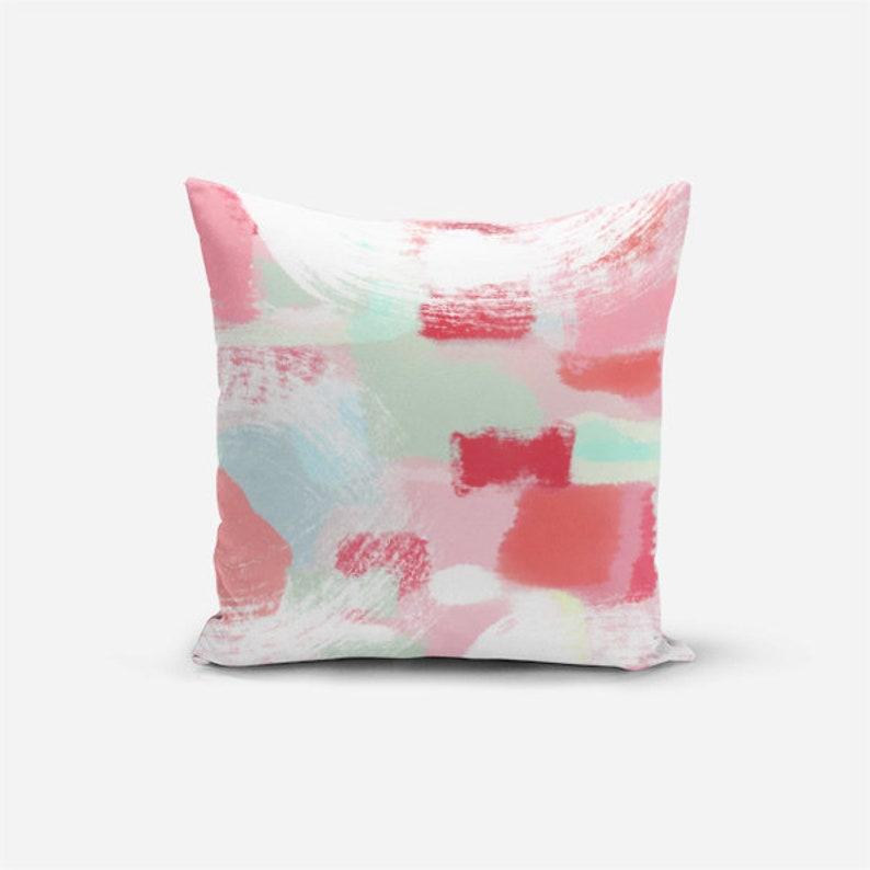 Outdoor Cushion Patio Throw Pillows Coral Mint Pink Throw Pillow Home Decor Outdoor Decor