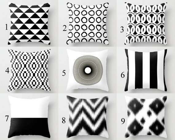 Surprising Throw Pillow Covers Black White Couch Cushion Cover Contemporary Home Decor Living Room Pillow Decorative Pillow M34 Decorative Pillows Andrewgaddart Wooden Chair Designs For Living Room Andrewgaddartcom