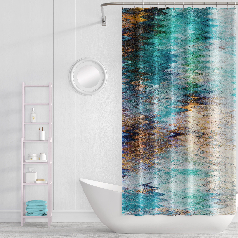 Shower Curtain Bathroom Decor Bath Curtain Abstract   Etsy