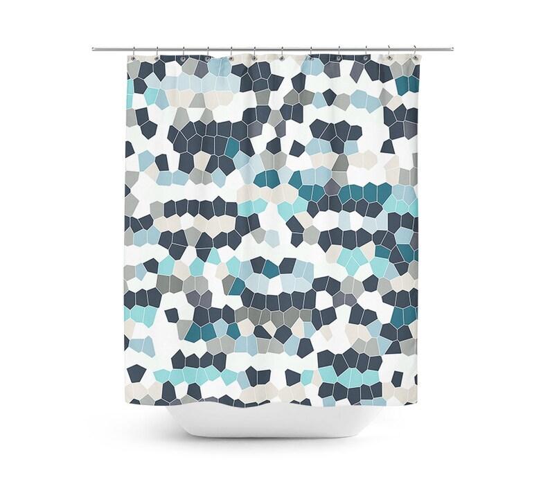Mosaic Shower Curtain Geometric Bath