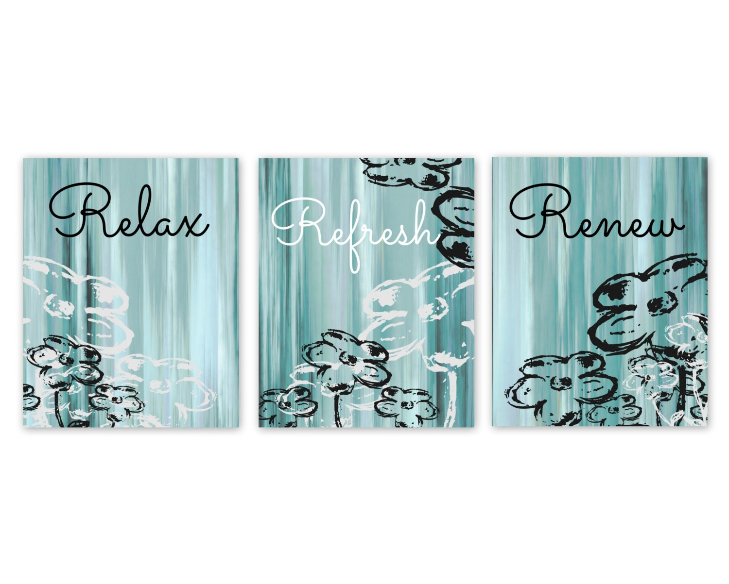 Bathroom Wall Decor Teal Bathroom Decor Aqua Bathroom Art