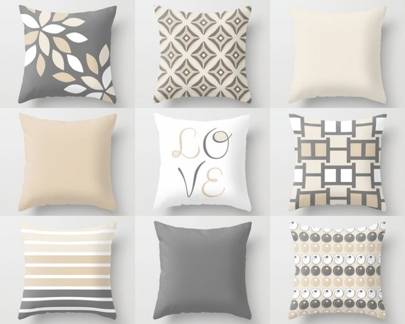 NEUTRAL Pillow Covers Decorative Throw Pillows Home Decor