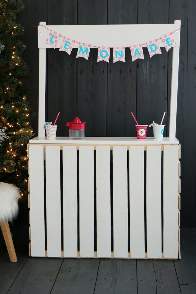 Lemonade Stand Painted White Shabby