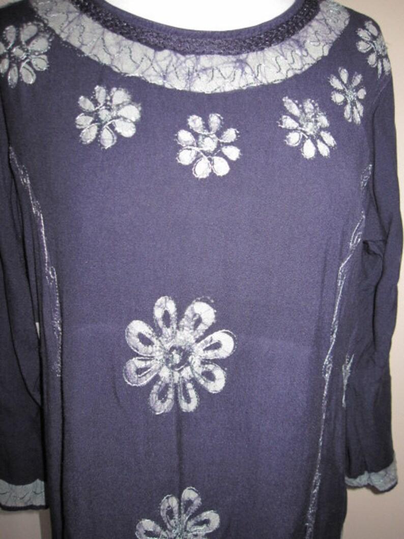 98980efd9d Beautiful Vintage Full Length Soft Elastic Cotton Floral Dress | Etsy