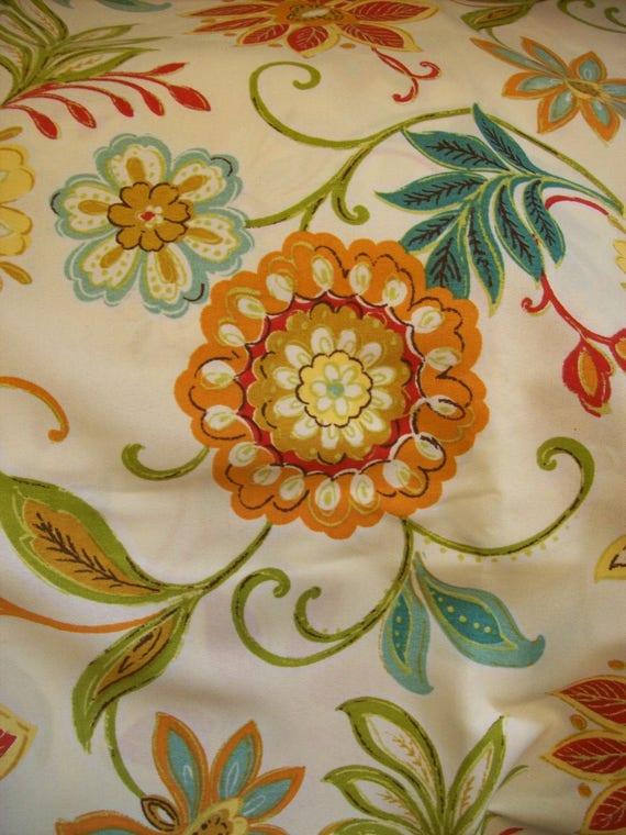 Per Yard Modern Floral Upholstery Fabric Richloom Solarium Etsy