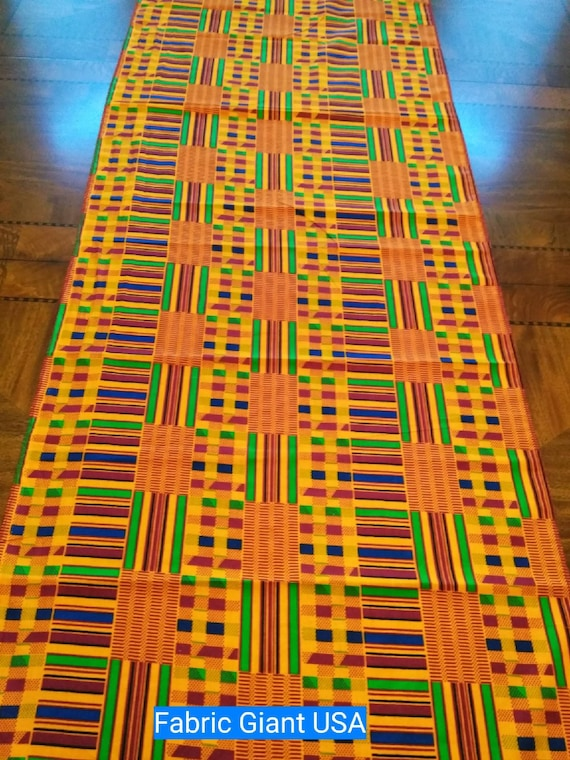 Kente African Table Runner Runners For Parties Events | Etsy