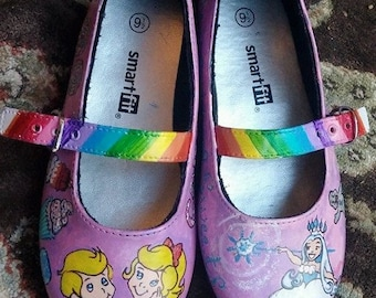 ec0fda93db44 Candy Land Custom Painted Shoes