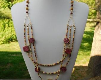 Festive Multi Strand Necklace.