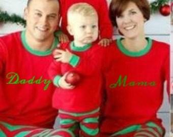 Kids Monogrammed Christmas PJs