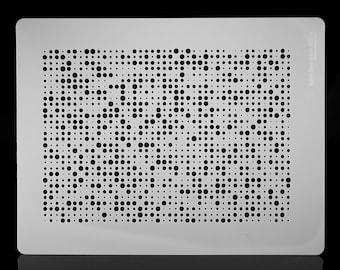 Textural Scrapbooking Halftone Sheet.  Wall / Art / Craft / Painting / Makeup / Furniture / Tattoo / Overlay Airbrush Stencil.