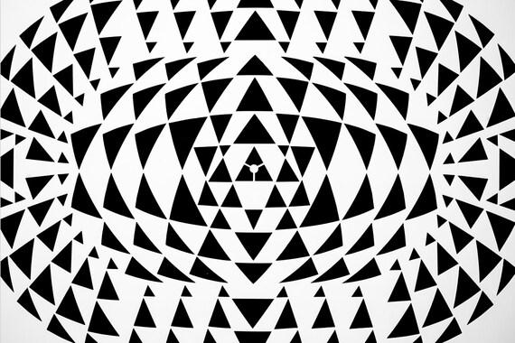 Gangster Zen Geometry Crest. Wall / Art / Craft / Painting / | Etsy