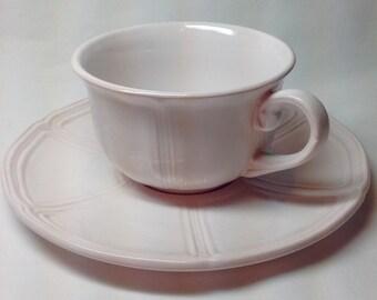 Vintage Pale Pink Teacup and Saucer Set
