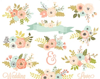 Floral Clipart Etsy