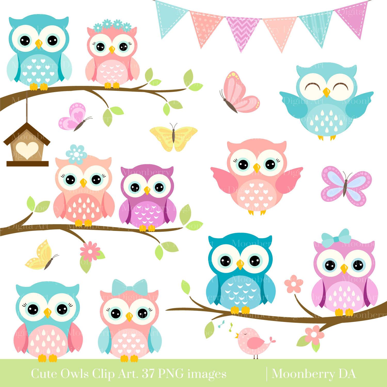 owls clipart cute owl clipart digital owls clipart etsy rh etsy com cute owl clip art free cute owl clipart pink