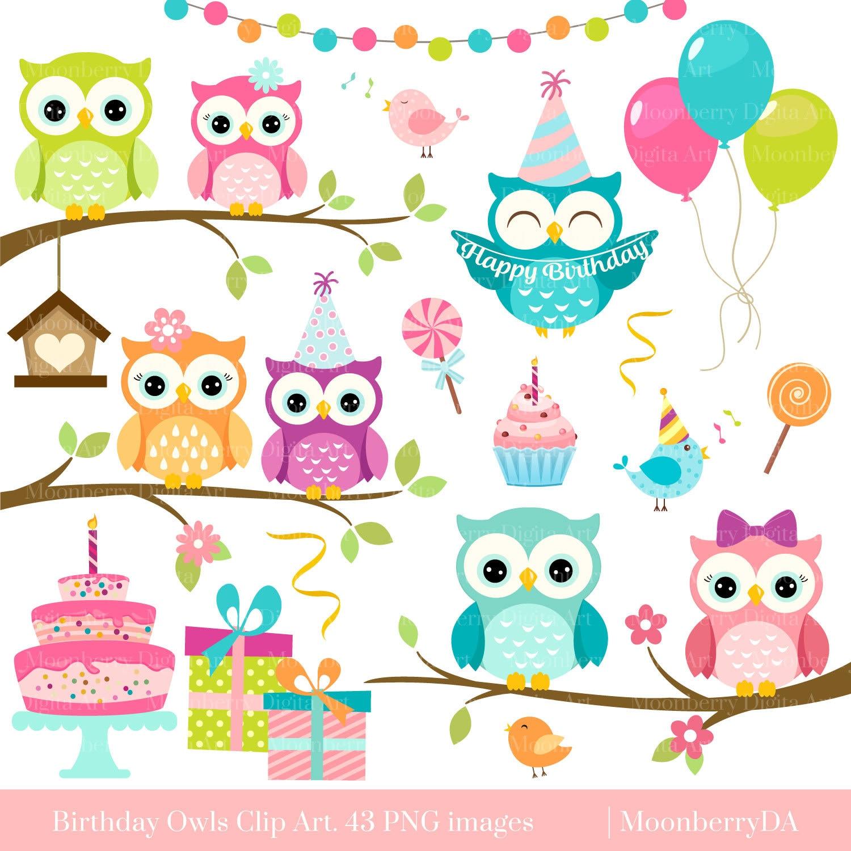 Картинки на день рождения с совами, картинки днем
