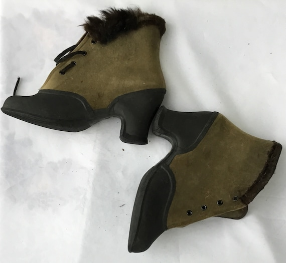 Victorian, or possibly later, rain boots