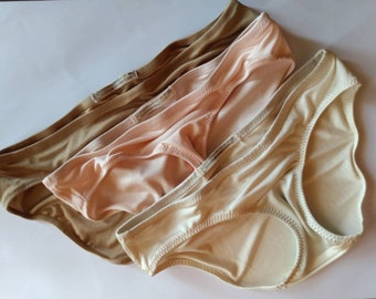 Luxe 100/% Pure Silk Jersey Panties in Your Choice of Underwear Style Royal Tease 7-Pack Silk Lingerie