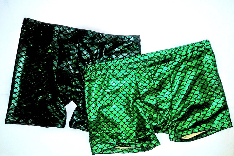 f3b2a346d279d Aquaman Swim Trunks Metallic Green Merman Print Pull-on | Etsy