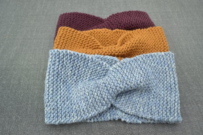 Headband Merino wool headband knitted headband