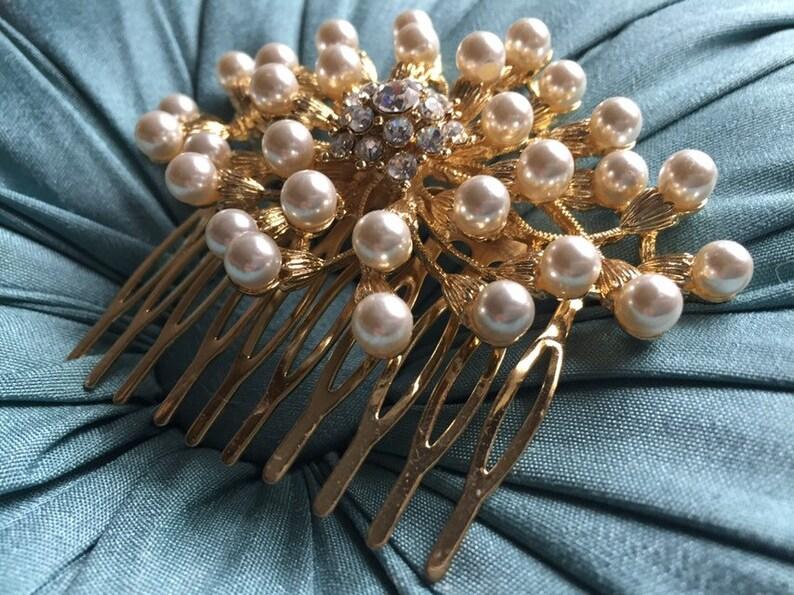 Fashion Crystal Moon Curve Diamante Hair Clip Wedding Bridesmaid Statement Piece
