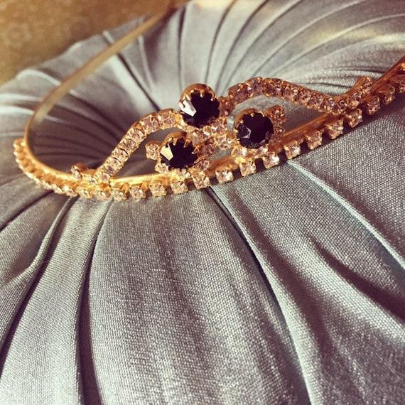 Luxury vintage sparkling tiara crystal tiara weddi