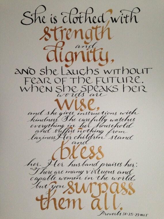 Pismo ścienne Art Christian Art Wall Wiersz Dla Kobiety Wiersz Uznanie Panie Dzień Matki Verse 11 X 14 Kolorów Do Wyboru