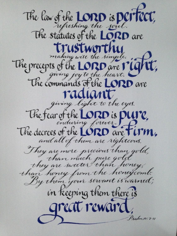 scripture art psalm 19 7 11 bible verses pastor