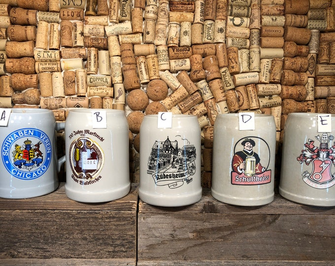Vintage German Beer Stein, Mug, Soy Hazelnut Coffee scented candle, free shipping