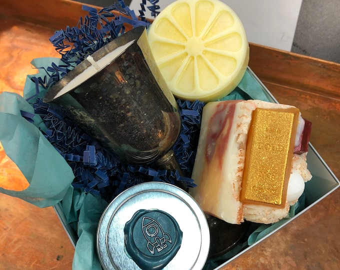 Champagne Lovers Gift Set, Soap, Candle, Salve, Lotion Bar