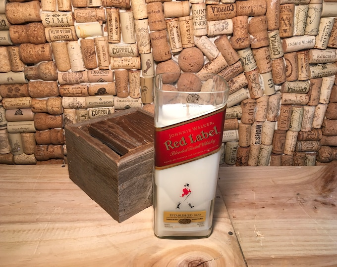 FREE SHIPPING Johnnie Walker Scotch Whiskey soy candle, Leather scent