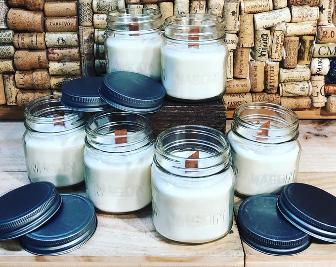 FREE SHIPPING! Mason Jar With A Wood Wick In Forest Floor Scent