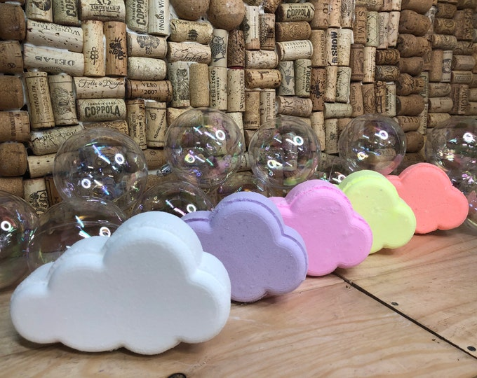 Set of Five Rainbow Surprise Cloud Bath Bombs