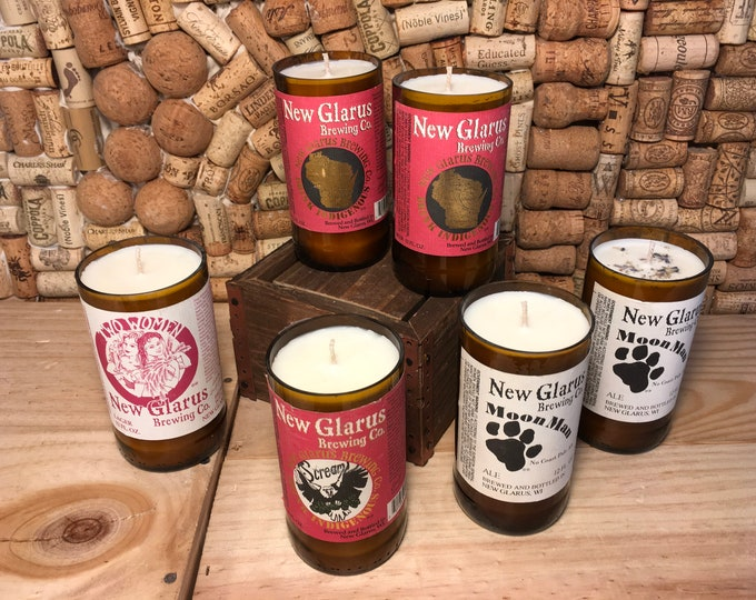 FREE SHIPPING! New Glarus Beer Candle, Choose your scent