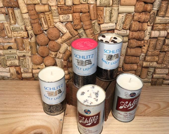 FREE SHIPPING! Vintage Schlitz Beer Can Candle, Choose your scent